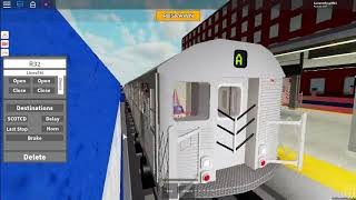 Roblox Subway train simulator Driving R32 A Train From Coney SIsland to Park place (REMAKE)
