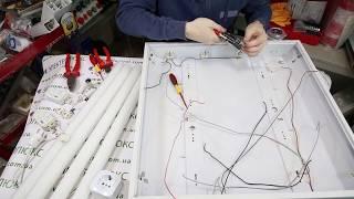 Как переделать растровый светильник на светодиодный