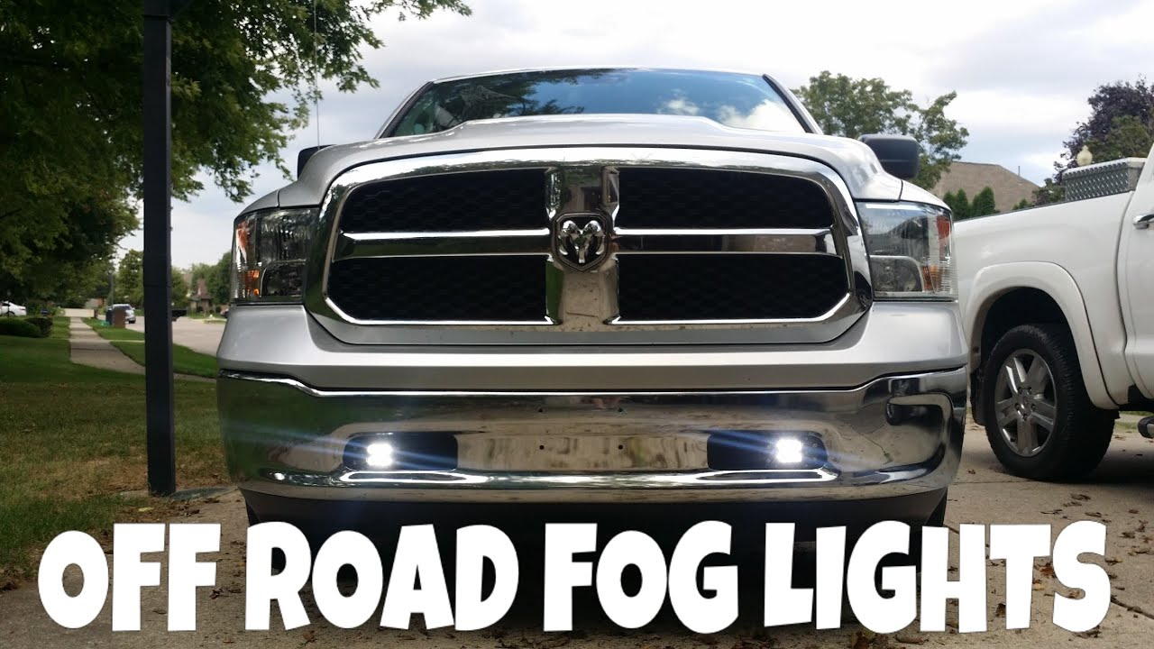 How To Install Off Road Fog Lights 2015 Ram Youtube Wiring Diagram Needed Piaa 80 Series Lamps On 46hse