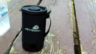 Camping Gear Review The Jet Boil Personal Cooking System