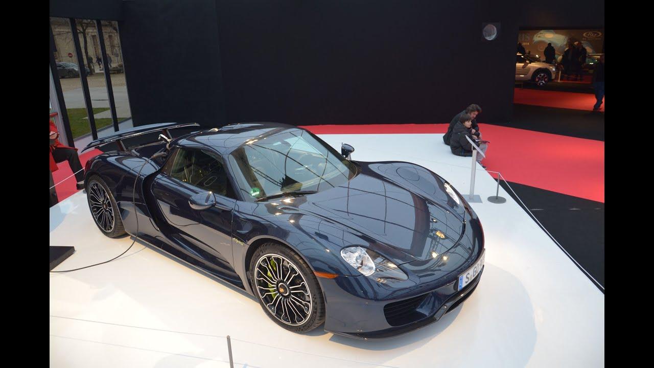 Blue Porsche 918 Spyder Full Details