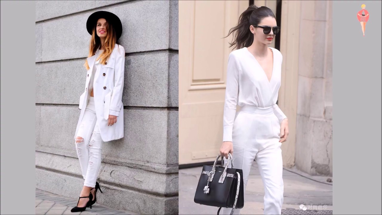 41c3b1251aac4 White Denim Outfits 2018 Spring Summer Fashion Trends - YouTube