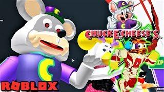 ESCAPE CHUCK E. CHEESE ANIMATRONIC!! | The Weird Side of Roblox: Chuck E Cheese's Obby