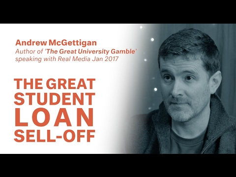 Andrew McGettigan   The Student Loan Sell Off