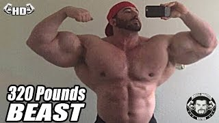 320 pounds real life beast is tired of people saying he took synthol steroids