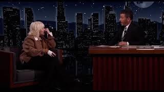 Billie Eilish saying 'Mommy? sorry' at Jimmy Kimmel live