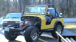 CJ5 Chevy V8 under its own power
