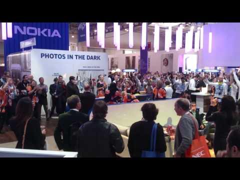 Nokia staff karaoke at MWC