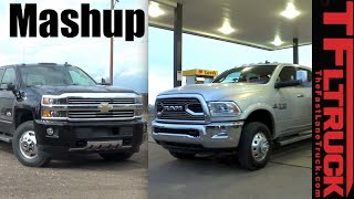 2016 Chevy 3500 vs Ram 3500 Heavy Duty Towing MPG Dually Duel!