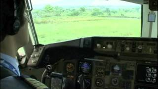 Departing Sao Tome in Cockpit BOEING 757