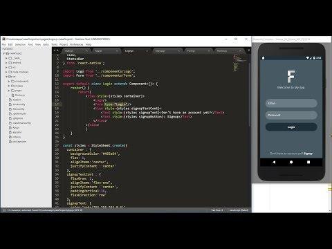 React native tutorial - React native login, signup and navigation example