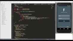 React native tutorial Part 1- React native login, signup and navigation example
