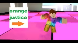 orange justice in roblox
