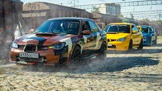 Боевые SUBARU WRX STI такого точно не ожидали от  ЗЛЫХ AUDI , SKODA и VW Golf R