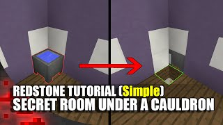 Minecraft: Simple Secret Room Underneath A Cauldron!