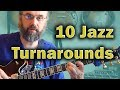 Download Jazz Chords: I VI II V turnaround in 10 variations - Jazz Guitar Harmony Lesson