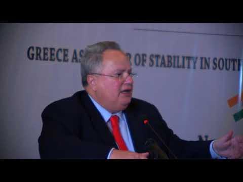 Special Address by H.E. Mr. Nikos Kotzias, Minister of Foreign Affairs, Greece