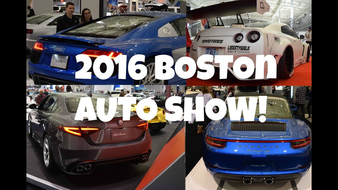 Boston AutoShowAlfa Romeo Giulia Audi R Porsche - Boston car show this weekend