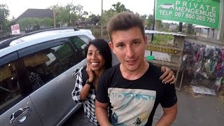 Вождение машины с балийским инструктором