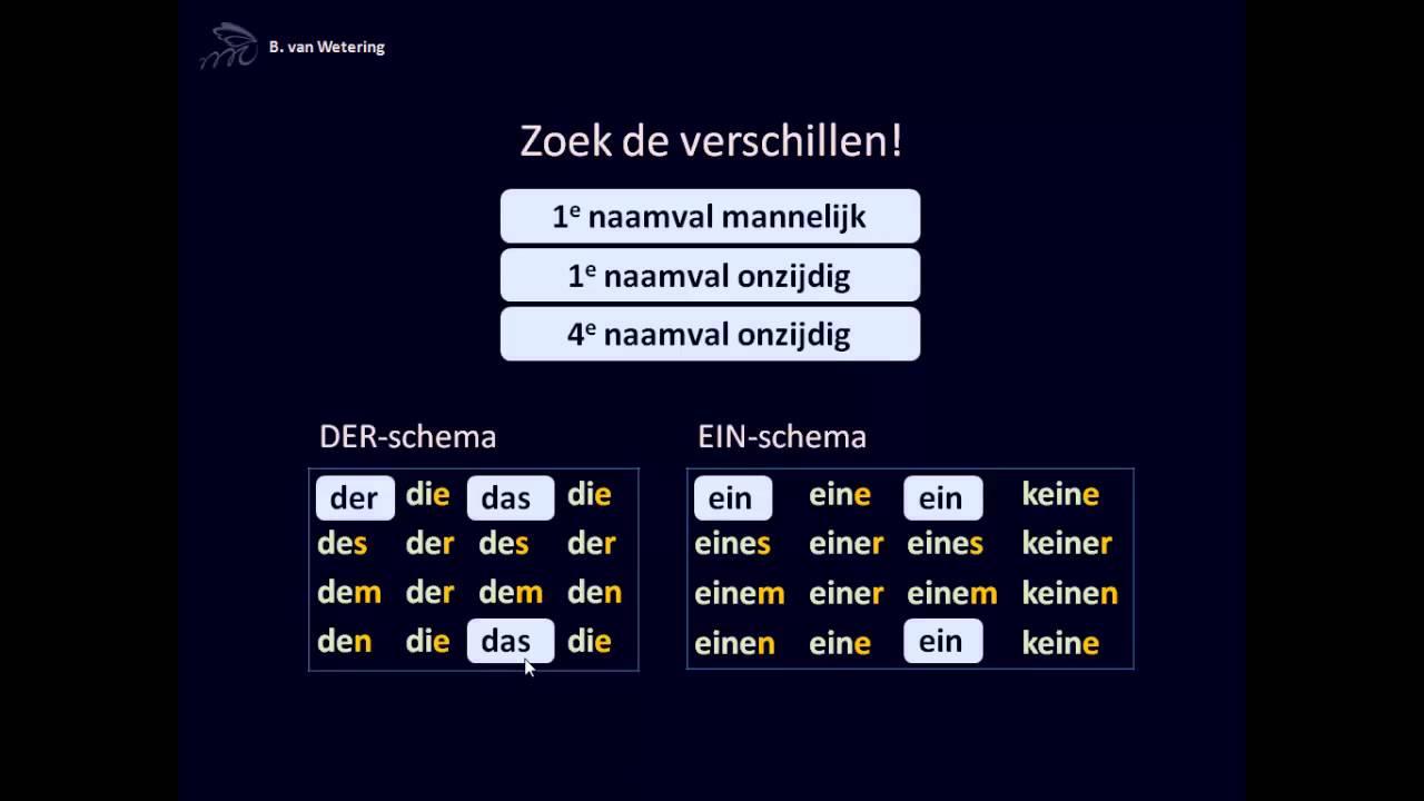 DU naamvallen (2) ein-schema - YouTube