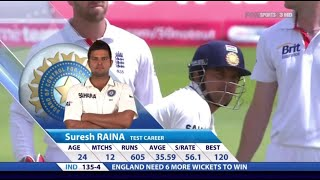 Suresh Raina 78 off 136 | ENG vs IND 2011 | 1st Test Lord's
