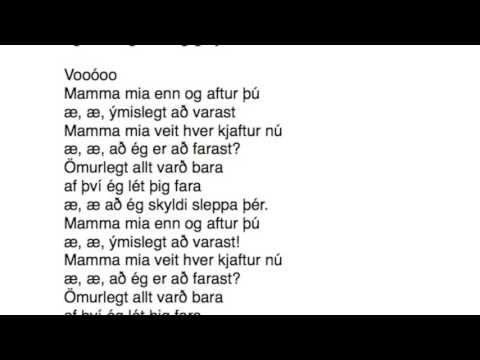 Mamma mia - Texti