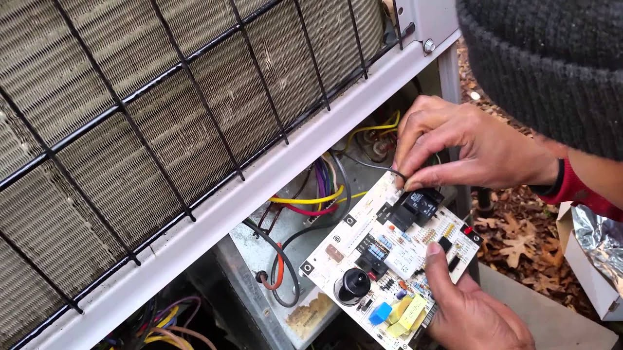Replacing Carrier Circuit Board Youtube Coleman A C Condenser Unit Wiring Diagram