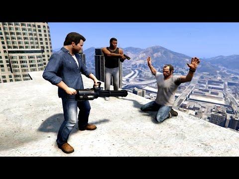 GTA V Franklin And Michael kill Trevor