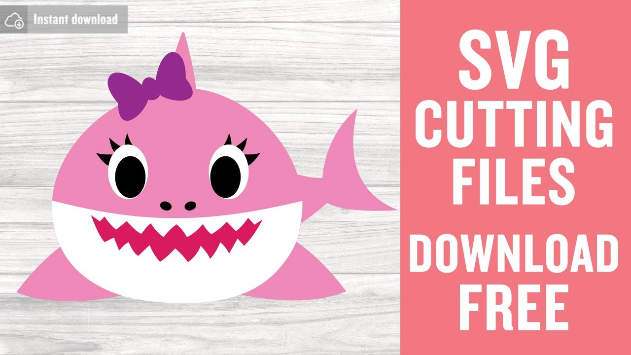 Sister Shark Baby Shark SVG Free Cut Files for Silhouette
