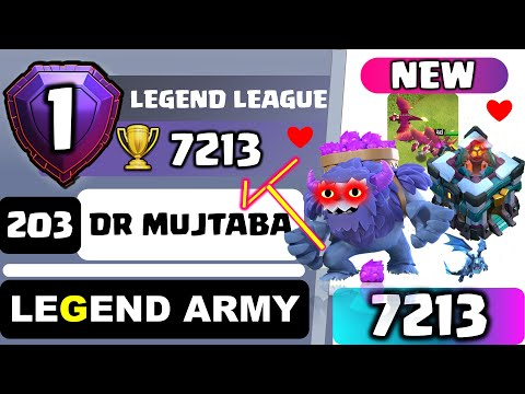 DR MUJTABA COC TH 13 LEGEND | CHASE 8000 Trophy | Top 3 Higher League Attacks | Electro Dragon
