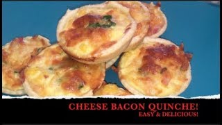 QUICK & TASTY! CHEESE BACON QUICHE, The Best Recipe!