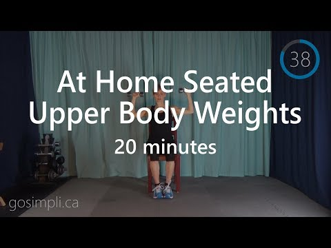 20 Minute At Home Seated Upper Body Workout with Weights