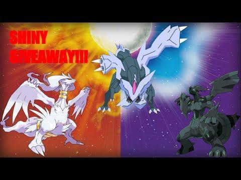 Shiny Zekrom Reshiram And Kyurem Pokémon Sun And Moon Gts Giveaway