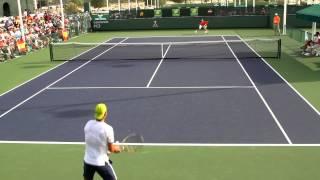 Rafael Nadal Practice 2015 BNP Paribas Open Indian Wells
