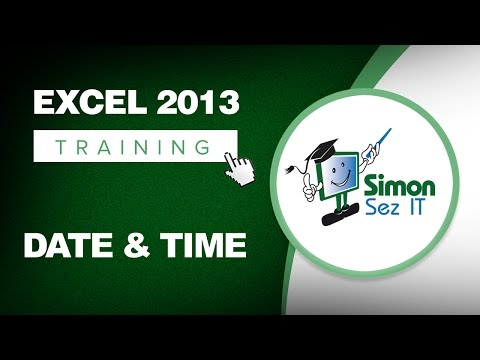 Microsoft Excel 2013 Training -- Date and Time Function - Excel Training Tutorial