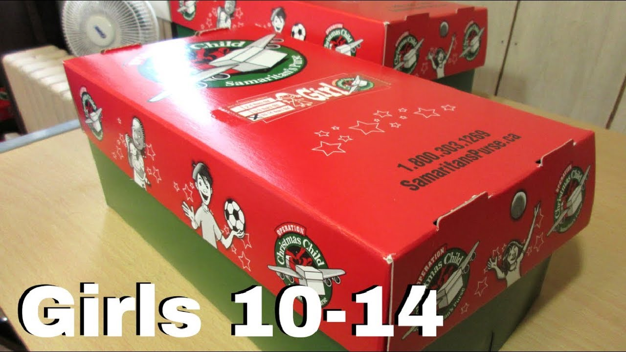 Christmas Child Boxes.Girls 10 14 Operation Christmas Child Boxes 1 2