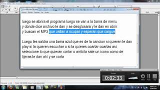 Tutorial audacity cambiar MP3 a WAV