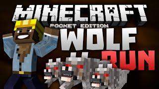 TEMPLE RUN for MCPE!!! - Wolf Run Mini Game - Minecraft PE (Pocket Edition)