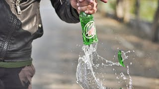 टशन से बोतल तोड़ने का तरीका || HOW TO BREAK OPEN A BOTTLE IN STYLE