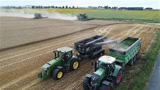 big moisson harvest 2017 2x john deere s680i johndeere 8360rperard black et benne huret
