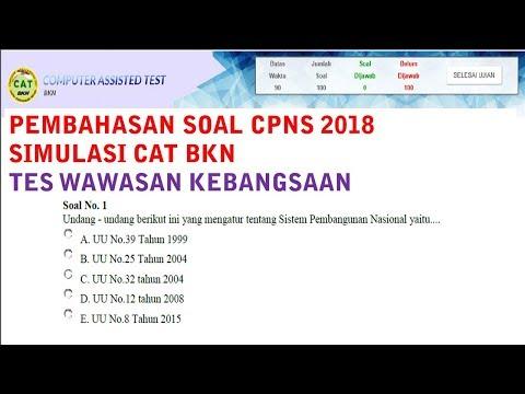 Pembahasan Soal CAT BKN CPNS 2018 - Tes Wawasan Kebangsaan