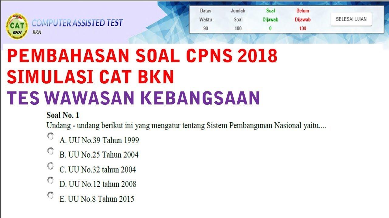 Soal Cpns Bkn 2018