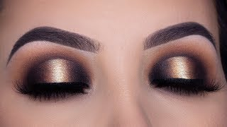 Black and Gold Smokey Halo Eye Makeup Tutorial