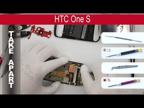 How to disassemble 📱 HTC One S z520e; z560e, Take Apart, Tutorial