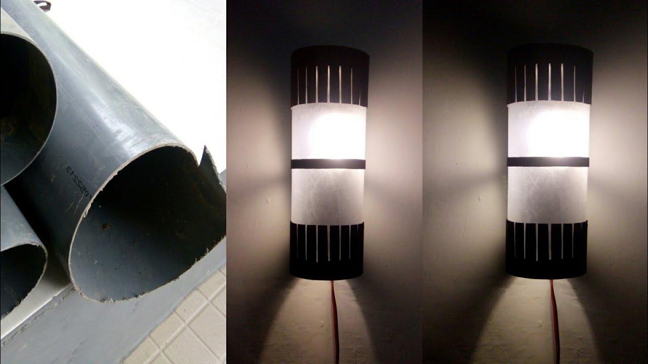 Cara Mudah Membuat Lampu Hias Dinding Dari Paralon Pipa Pvc Diy Decorative Lamps From Pvc Youtube Cara membuat lampu dinding