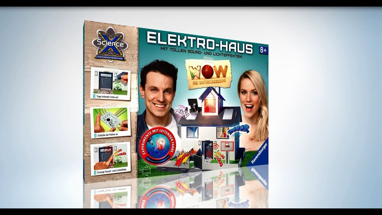 ravensburger science x wow 3d elektrohaus youtube. Black Bedroom Furniture Sets. Home Design Ideas