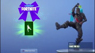 How To Get TAKE THE ELF EMOTE and CHALLENGE GUIDE 14 Days Of Fortnite!