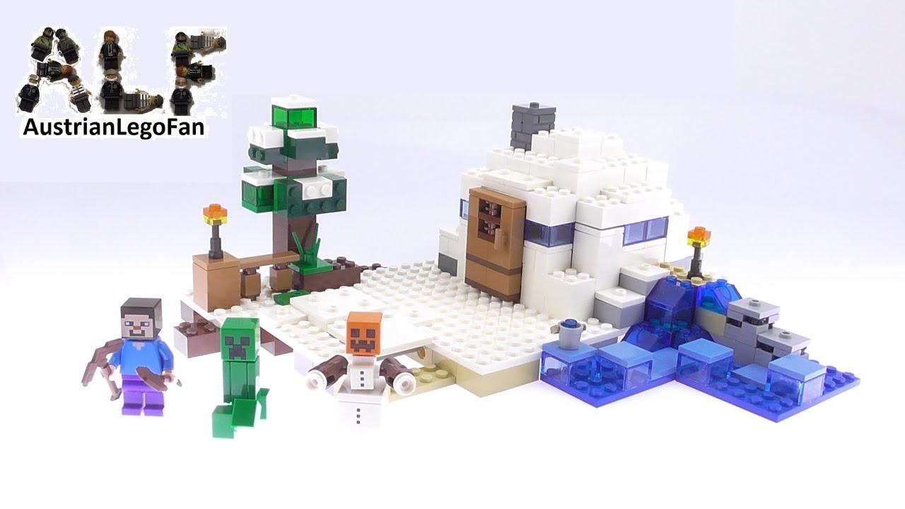 lego minecraft versteck im schnee