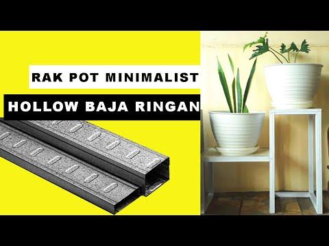 Rak Pot Minimalist Hollow Baja Ringan Diy Tiered Plant Stand Rack Youtube