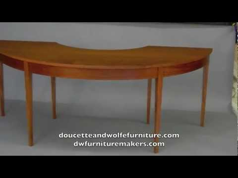 Demilune Desk Handmade By Doucette And Wolfe Furniture Makers